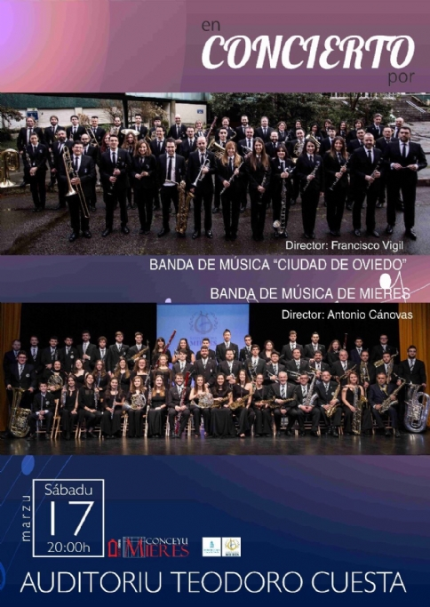 17th, March, 2018. Concert of the Wind Orchestra of Mieres