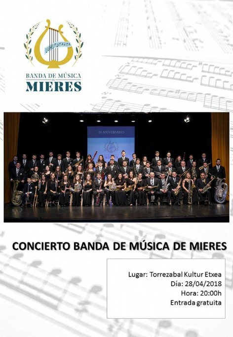28th, April, 2018. Concert of the Wind Orchestra of Mieres