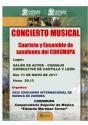 11th, May, 2017. Concert by CONSMUPA Saxophone Ensemble in Zamora